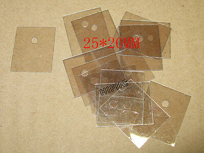 50PCS TO-247 TO-218 SOT93 Mica Insulator 25*20MM