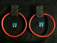 2 Pack 16 Gauge Atc Fuse Holder W/ Fuse In-line Awg Wire Copper 12 Volt Blade