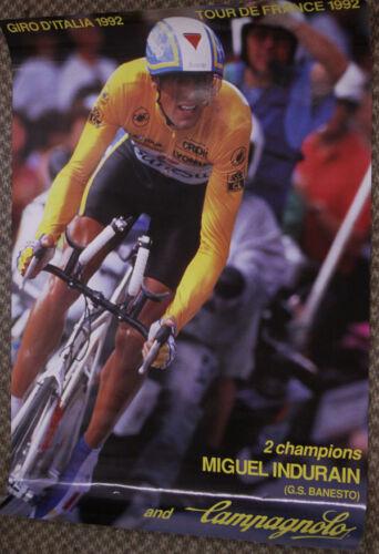 NOS Campagnolo Miguel Indurain Tour De France Giro D/' Italia Double Win Poster