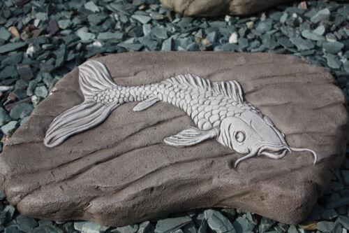 LARGE JAPANESE KOI FISH PAVING SLAB//STEPPING STONE ORNAMENT