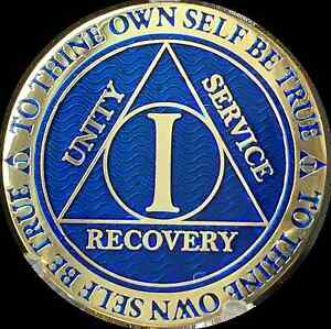 1-Year-AA-Medallion-Blue-Gold-Plated-Alcoholics-Anonymous-Sobriety-Chip-Coin-One