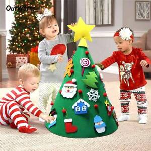 3D-Cone-Felt-Christmas-Tree-for-Toddlers-Preschool-Kids-Children-Xmas-DIY-Gifts