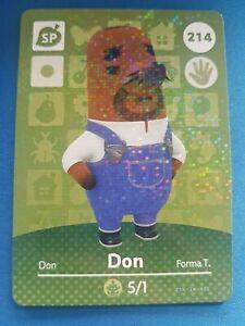 214-Don-SP-Animal-Crossing-Amiibo-Card-Single-Series-3-Near-Mint-US-Version