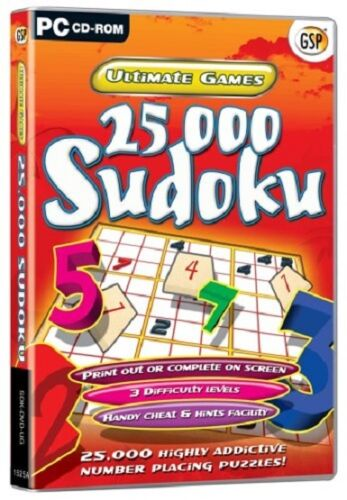 1 of 1 - Ultimate Games - 25000 Sudoku, PC CD-Rom Game.