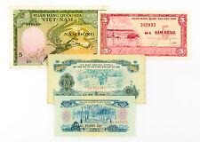 4 different South Vietnam paper money 1960's-70's  circ.-Au