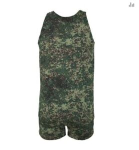 Army man military underwear khaki soldiers camouflage boxer and t-shirt set