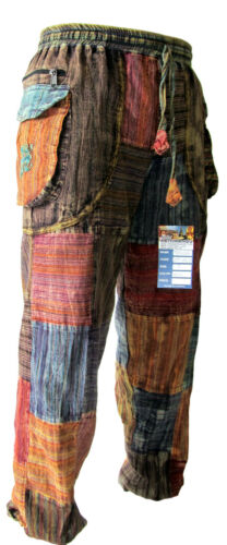 Patchwork pace BABA Baggy Hippy PANTS Elastico In Vita Estate OM Gypsy Pantaloni