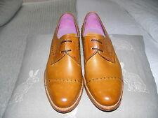 barker leather flat brogues tan shoes 5 BNWOT Cos Style