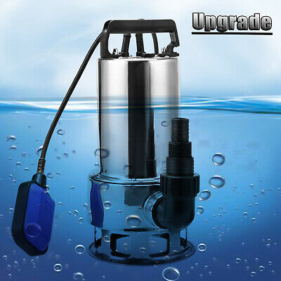 1.5HP Homdox 1.5 HP Stainless Steel Submersible Sump Pump Dirty Clean Water Pump w// 15ft Cable and Float Switch