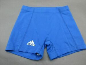 Adidas-Size-M-Womens-Blue-Athletic-Climalite-Running-Fitness-Track-Shorts-186