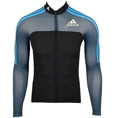 Adidas Adistar Ruota Maglia Bicicletta Giacca Softshell Manica Lunga Uomo Nero/blu-mostra Il Titolo Originale Prezzo Di Vendita