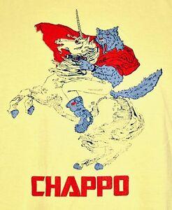 CHAPPO-Band-Plastique-Universe-EP-Album-T-Shirt-LARGE-Yellow-Music