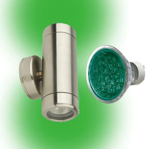 Colour LED Outdoor Up Down Wall Light IP65 Exterior Light Stainless Steel garden