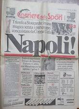 CORRIERE DELLO SPORT 18 maggio 1989 Napoli vince Coppa UEFA a Stoccarda Maradona