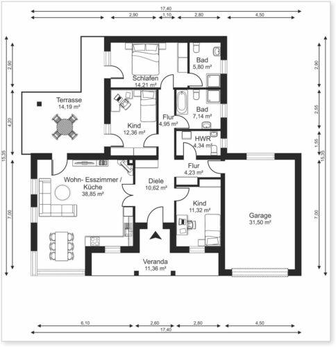 Schöne und günstige Pläne 2D Grundrisse zeichen service Grundriß Grundriss