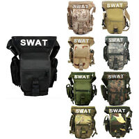 Tactical Swat Leg Bag Outdoor Sport Utility Drop Thigh Pouch Military Waist Pack