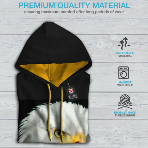 Contrast gold Animal Hoodie Eagle Hood Photo Men Wild New Black Sq1H1I