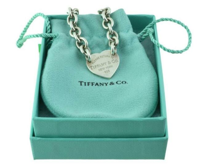 Tiffany & Co Necklace & Bracelet Pair w/ Boxes Lot 4263