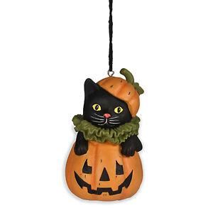 Bethany-Lowe-Black-Cat-Jack-O-Lantern-Pumpkin-Halloween-Ornament-Retro-Decor