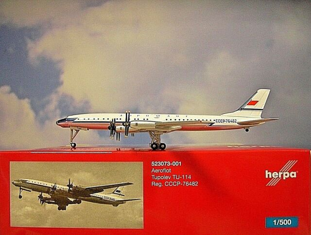 Herpa Wings 1:500 Tupolev TU-114 Aeroflot CCCP-76482 523073-001