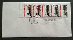 USA-1994-Locomotive-Trains-Stamp-FDC-official-iss-mild-toned-Lot-A