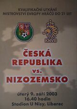 Programm U21 LS 9.3.2003 Czech Republic - Netherlands Niederlande
