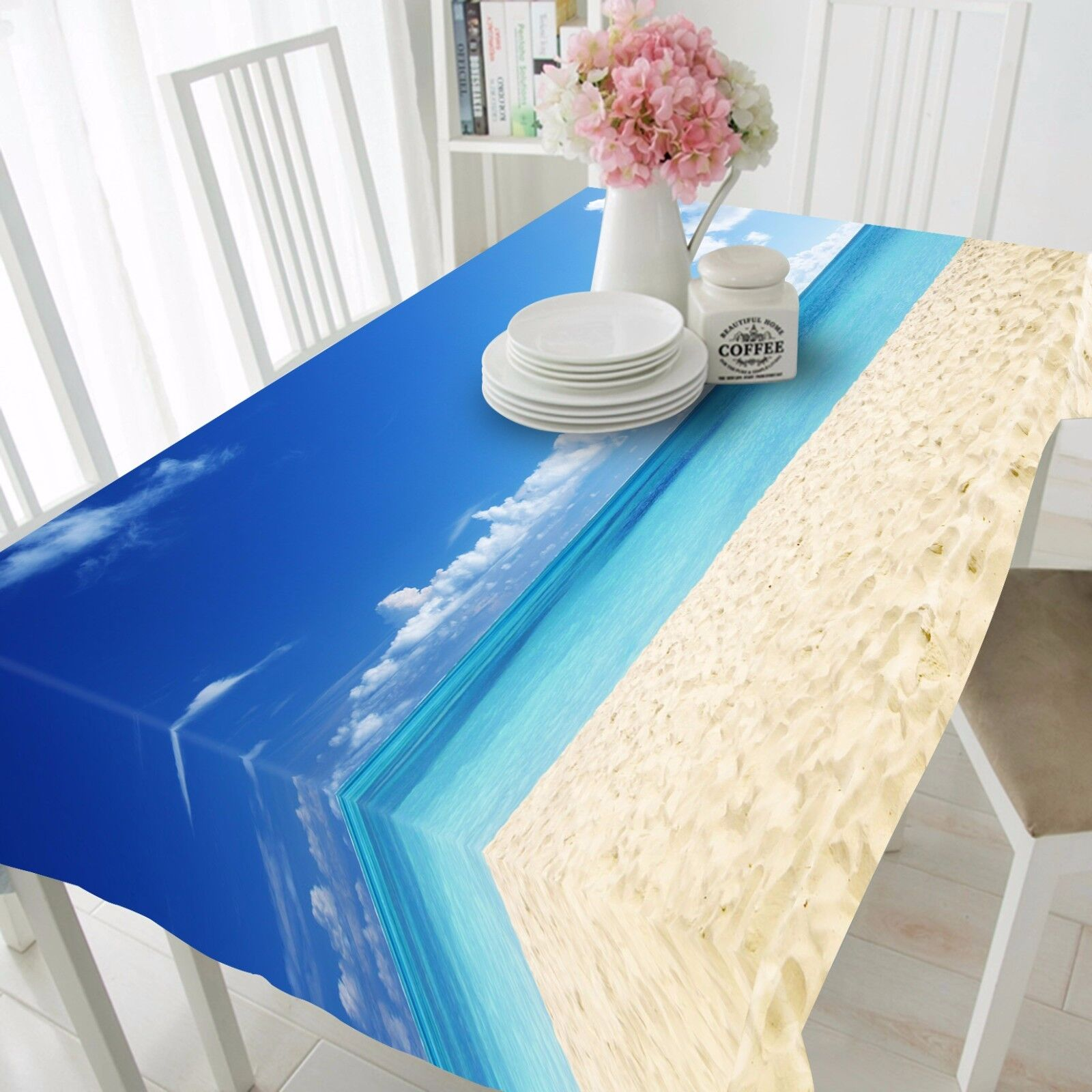 3D Sea Clouds Tablecloth Table Cover Cloth Birthday Party AJ WALLPAPER UK Lemon
