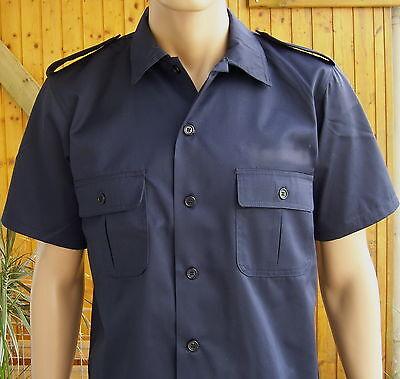 POLIZEI Hemd, US Hemd, marineblau, 1/2 Arm , S bis 3XL