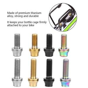 Bicycle Water Bottle Cage Holder Screw Bolts Durable Colorful Bike AccessoryYHB