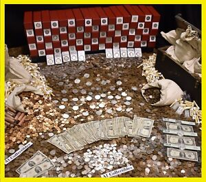 OLD-ESTATE-LOT-SALE-US-COINS-GOLD-BULLION-999-SILVER-TREASURE-HOARD-COLLECTION