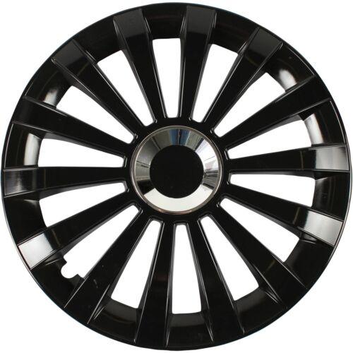 4 pezzi 4x Albrecht COPRI Radblenden Meridian BLACK NERO 16 pollici