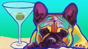FRENCH BULLDOG Dog Art Repro PRINT of Oil Painting VERN