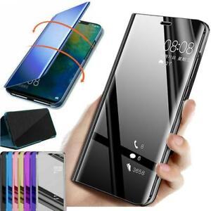 miglior sito web a5599 45e8c Dettagli su Cover per Huawei P Smart P20 P30 Lite Specchio Flip custodia  pelle intelligente