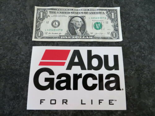 6 x 4 inch Large Abu Garcia For Life Fishing Sticker