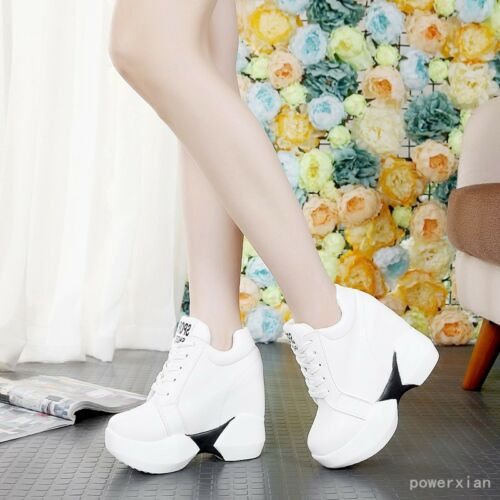 Womens Chic Shoes Sneakers Sport Ankle Boots Platform Wedges High Heels Size