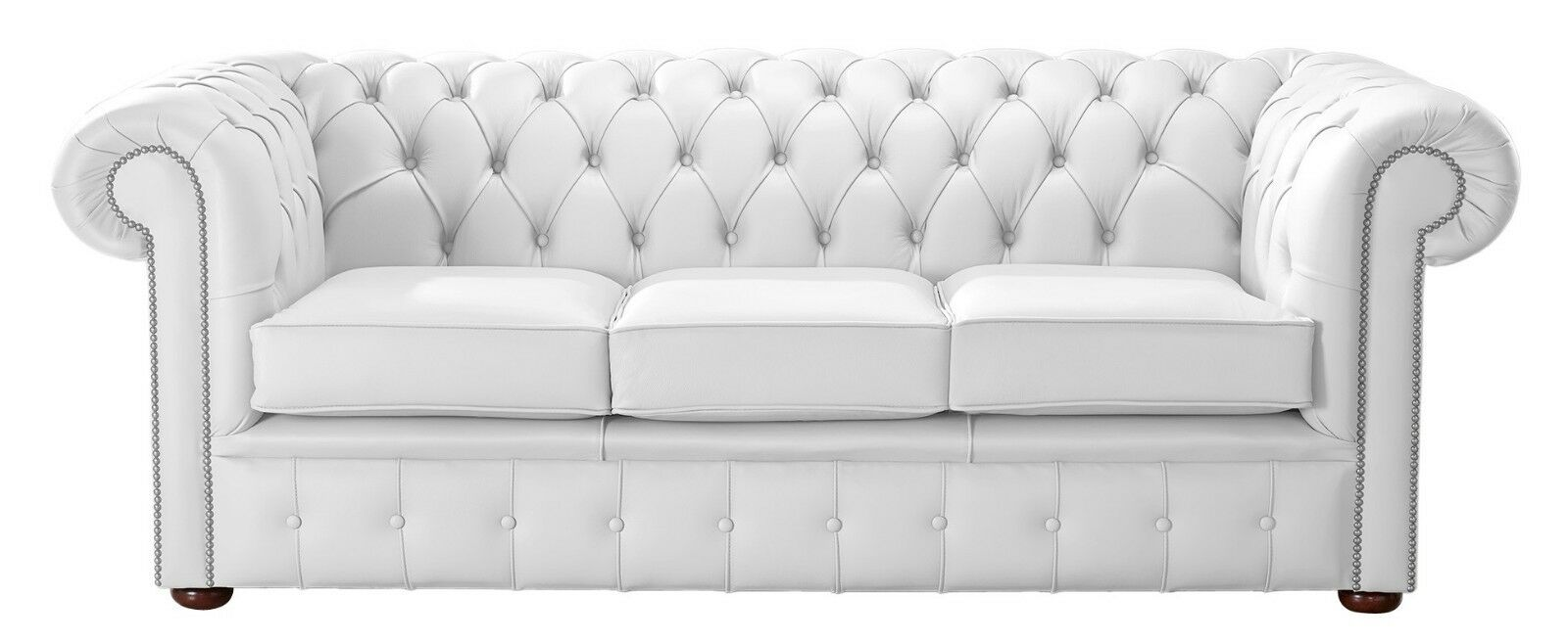 Magnificent Details About Modern Leather Chesterfield Handmade 3 Seater Sofa Settee Shelly Winter White Gmtry Best Dining Table And Chair Ideas Images Gmtryco
