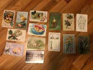 Antique-Postcards-Mixed-Lot-of-14-with-little-or-no-imperfections