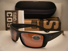 AT01 OSCGLP Costa Cat Cay Blackout w Silver 580G lens NEW Sunglasses