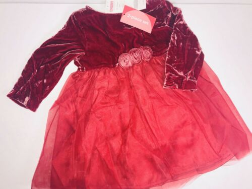 Gymboree Holiday Dress Girls DEEP Red Crushed Velvet Tulle Christmas TODDLER