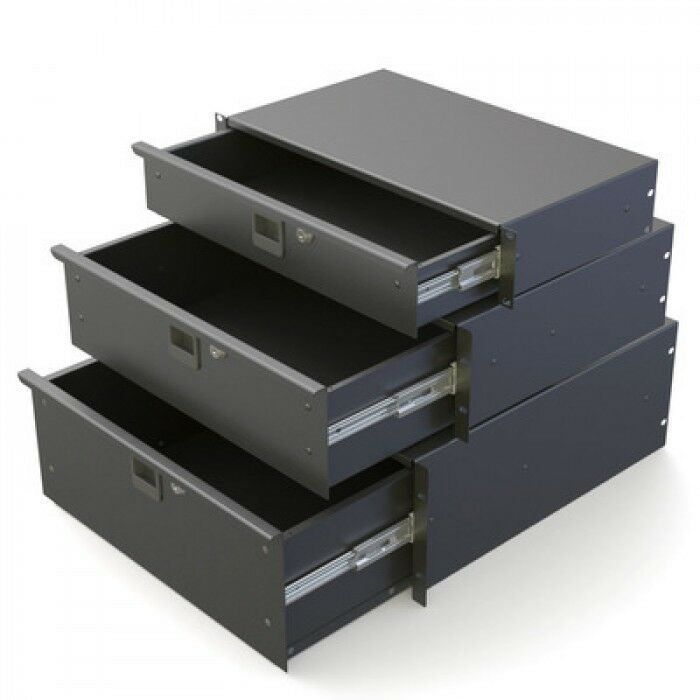 5u 19  Rack Drawer Steel Lockable Penn Elcom R1295K