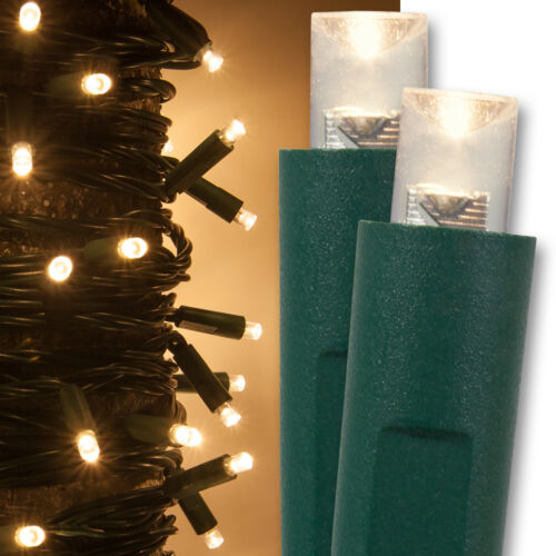 ECONOMY PACK of 25 Light Sets Green Wire 1,250 LED Christmas Mini Lights