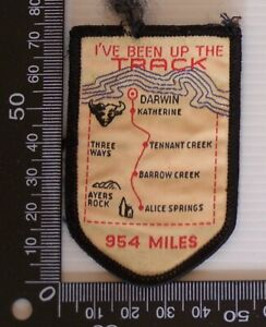 VINTAGE-I-039-VE-BEEN-UP-THE-TRACK-EMBROIDERED-SOUVENIR-PATCH-WOVEN-SEW-ON-BADGE