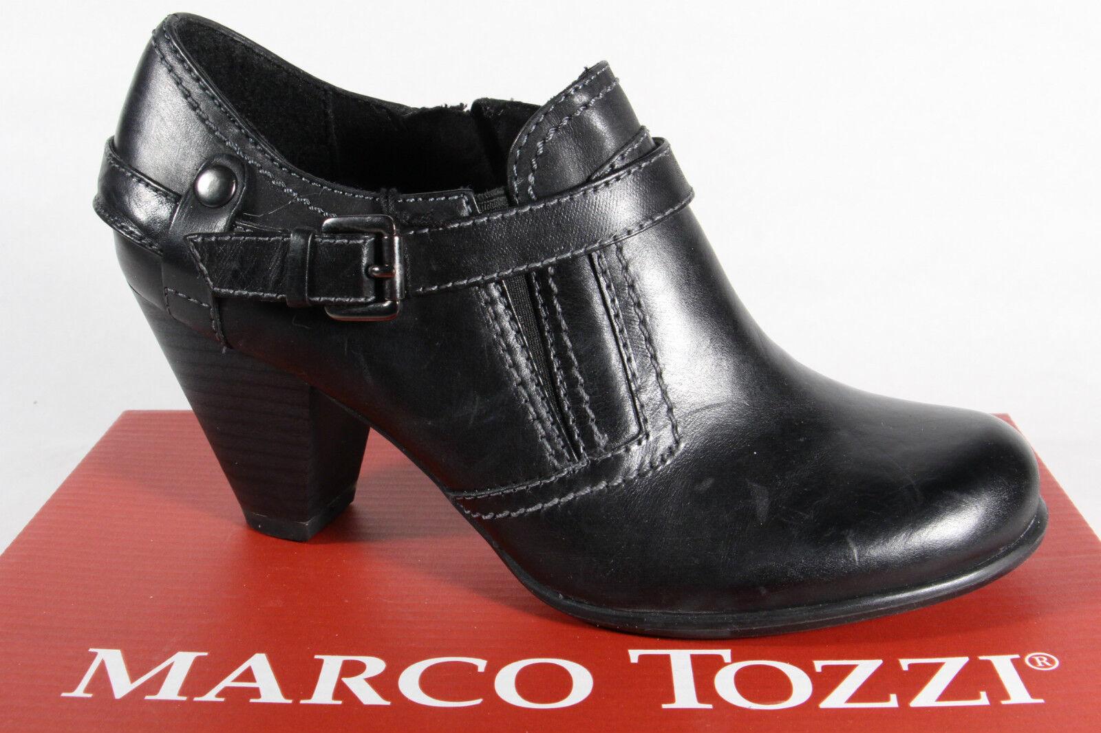 Marco Tozzi Slippers Pumps Leder NEU! schwarz  NEU! Leder 0f9a59