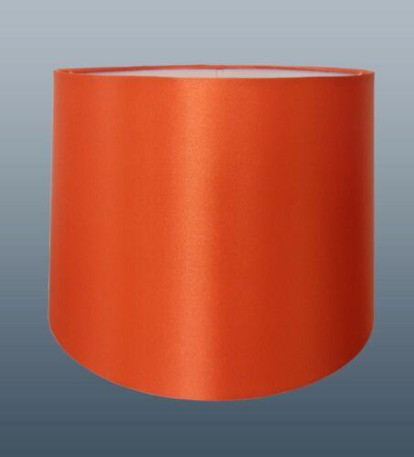 """Orange Automne abat-jour 12/"""" soie look Plafond ou Table"""