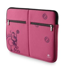 Logitech-15-6-inch-Notebook-Sleeve-Pink-Laptop-Netbook-Carry-Case-Bag-NEW