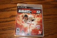 Major League Baseball 2K12 (Sony Playstation 3, 2012) Good Shape Complete MLB