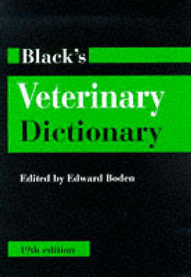 Black's Veterinary Dictionary (Reference), Acceptable, , Book