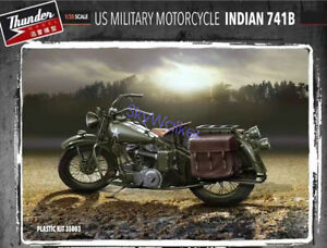 Military 1/35 WWII US Motorcycle Indian 741B Detail Set for Thunder Model #35003