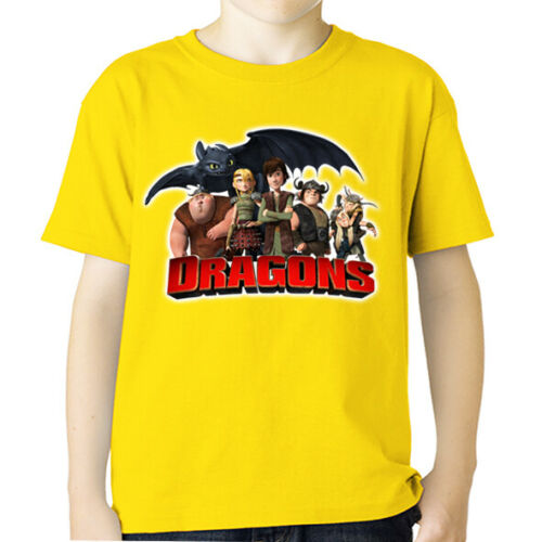 t-shirt dragons trainer defenders riders of berk Hiccup Haddock tshirt vichingo