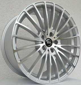 RH-BM-Alufelgen-Silber-poliert-8-5x19-5x114-3-Honda-Hyundai-Kia-Mazda-usw